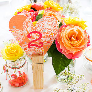 Orange Bohemian Number Decoration