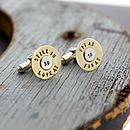 Personalised Shot Gun Cufflinks