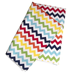 Baby Blanket 'Rainbow Chevron' - blankets, comforters & throws