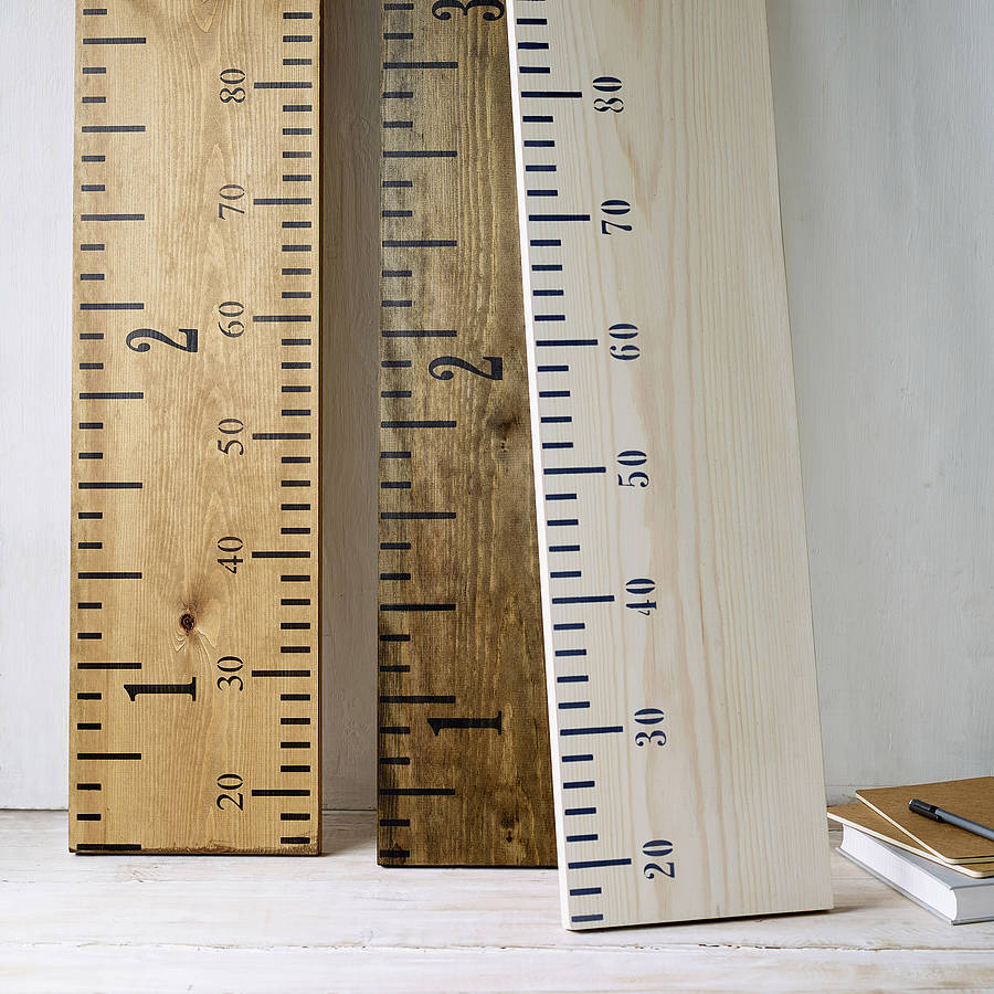 Personalised 'kids Rule' Wooden Ruler Height Chart By