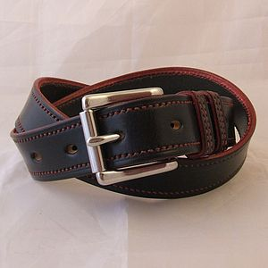 Handstitched Hotel English Leather Belt - belts