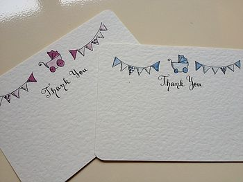 10 Baby/ Christening Thank You Cards
