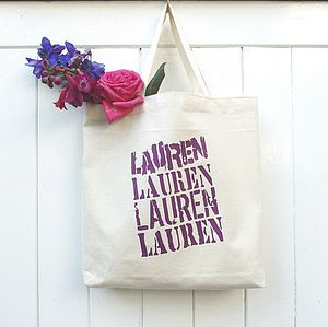 Personalised 'Mixed Font' Cotton Mini Tote - bridesmaid gifts