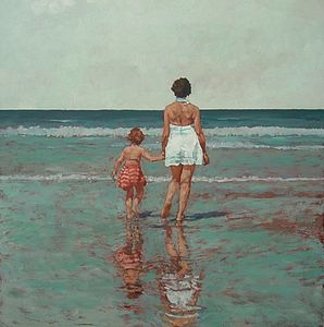 Daughter And Mother Print - contemporary art