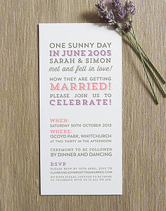 Love Story Wedding Invitation - invitations