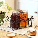 Iron Breakfast Jam Pot Rack Holder