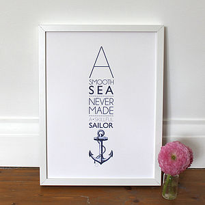 'A Smooth Sea…' Print - posters & prints