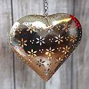 Hanging Heart Cut Out Flower T Light