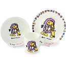 Personalised China Alphabet Breakfast Set
