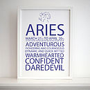 'Personalised Star Sign' Print