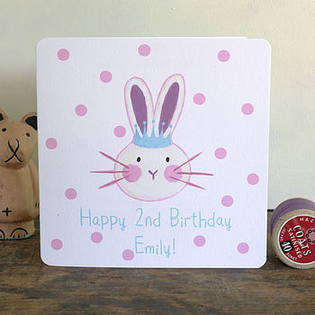 Personalised Princess Bunny Card