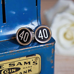'Milestones' Vintage Register Key Cufflinks - men's jewellery