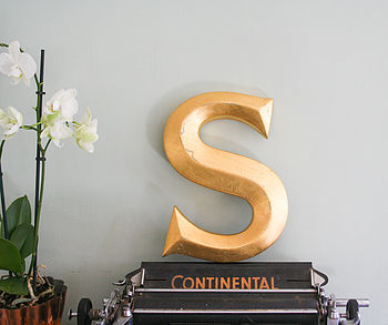 Genuine Vintage Shop Letters 'S'