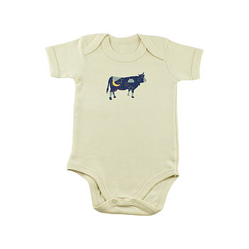 Cow Jumped Over The Moon Organic Bodysuit