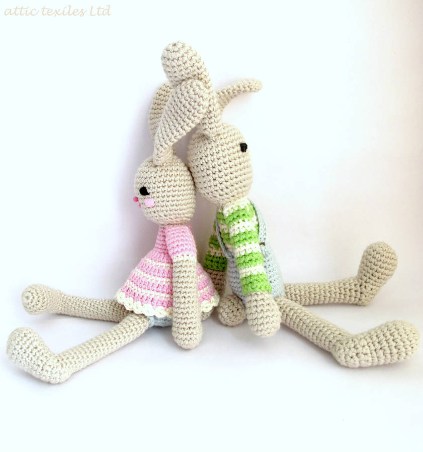 hand crochet bunny rabbit by attic notonthehighstreet.com