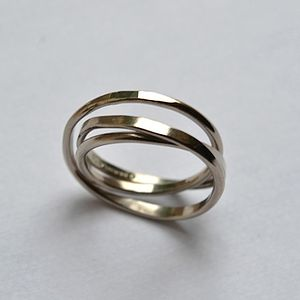 Handmade White Gold Cosmic Wedding Ring