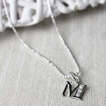 Your Initial As A Charm Necklace