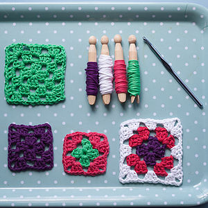 Learn To Crochet Granny Squares Kit - baby's room