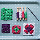 Learn To Crochet Granny Squares Kit