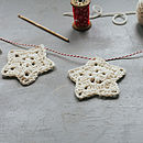 Crochet A Christmas Star Garland