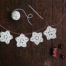 Crochet A Christmas Star Garland