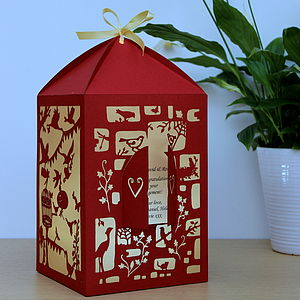 Personalised Bird Design Lantern - lighting
