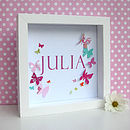 Personalised Baby Girl Butterfly Artwork
