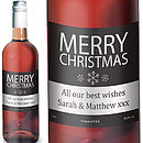Merry Christmas Personalised Wine