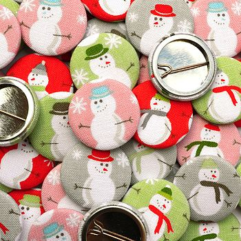 Snowman Christmas Badges