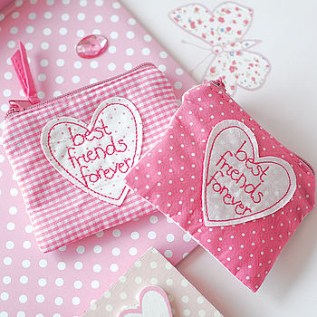 Pair Of Fabric Best Friends Forever Purses