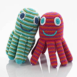 Fair Trade Crocheted Rattle - baby care