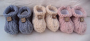 Organic Cotton Baby Booties - clothing