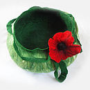 Green and White with poppy flower