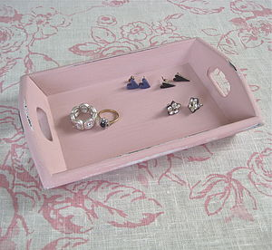 Vintage Painted Coin Tray - jewellery storage & trinket boxes