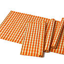 (Small Check) Split Bamboo Placemats, Orange