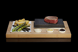The Steak Stones Sizzling Steak Set - for cooking enthusiasts