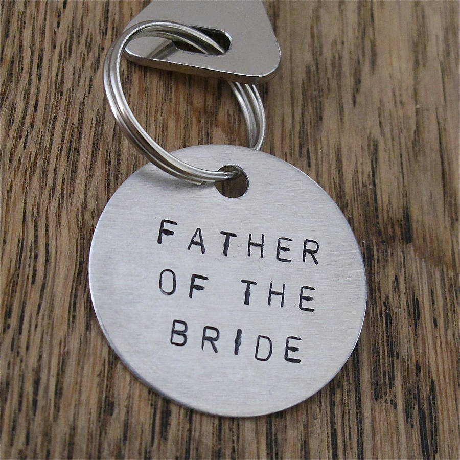 Father Of The Bride / Groom Gift Key Ring By Edamay