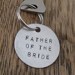 Father Of The Bride / Groom Gift Key Ring - men's accessories