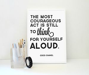 Coco Chanel Quote Think For Yourself Aloud