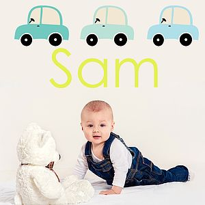 Car Name Fabric Wall Stickers - children's room