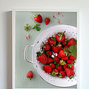 Strawberries Kitchen Decor Photographic Print