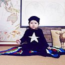 Organic Bamboo Knit Star Bodysuit & Hat Set