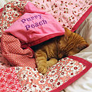 Personalised Cat / Dog Quilt (example of big font)