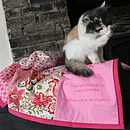 Personalised Cat / Dog Quilt (example of small font)