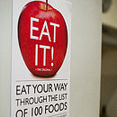Eat It Wall Mounted Health Food Chart