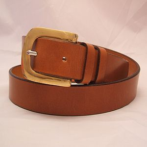 Handmade India English Leather Belt - womens