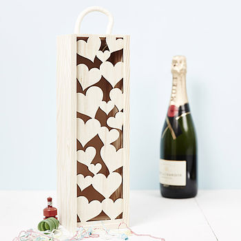 Lasercut Love Heart Bottle Box