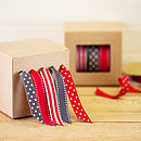 Slate/Red Ribbon and Dispenser Set