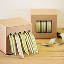 Sage Green Ribbon and Dispenser Set
