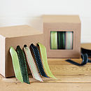 Green Stitched Ribbon and Dispenser Set